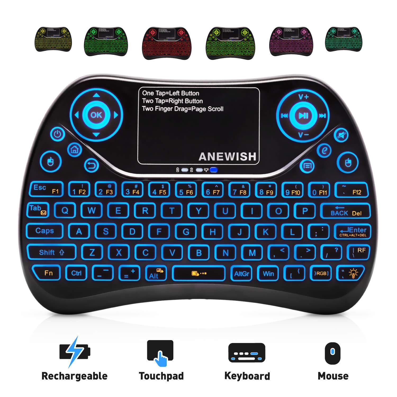 ANEWISH Wireless Keyboard Touchpad Rechargable