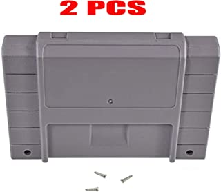 Childhood 2PCS Grey Cartridge Case shell for Super SNES Systems With 2pcs Screws