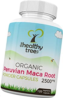 Organic Maca Capsules by TheHealthyTree Company - High