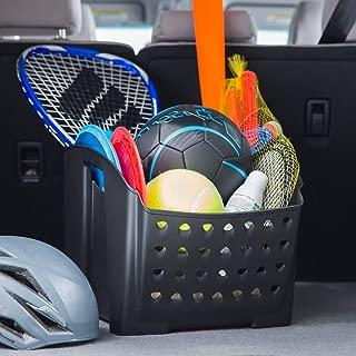 Rubbermaid 3301-20 Automotive Portable Tote Bin Organizer: Cargo Area/Car Trunk Storage Caddy with Leakproof Bottom, Standard