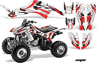 AMR Racing ATV Graphic Kit Sticker Decals Compatible with Honda 400 TRX/EX 1999-2007 - Expo Red