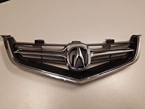 2004 2005 Acura TSX Grille with OEM Emblem & Chrome Molding