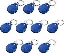 UHPPOTE Proximity EM4100 EM4102 125KHz RFID EM-ID Card Tag Token Key Chain Keyfob Read Only Color Blue Pack of 10