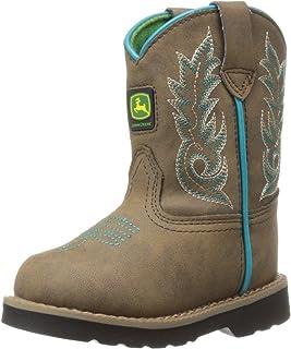 John Deere Inf Dis W/Turq Stitch PO Pull-On Boot