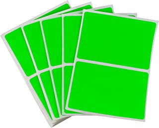 ChromaLabel 2 x 3 inch Name Tag Stickers | 150 Labels/Pack (Fluorescent Green)