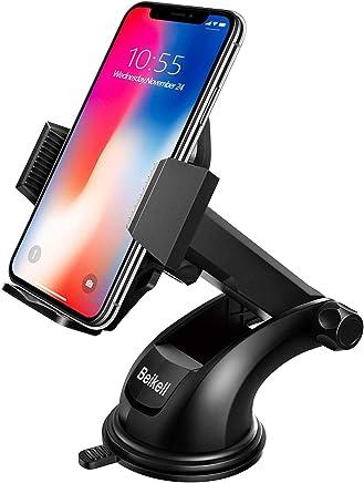 Beikell KFZ-Halterung für Smartphone mit EIN-Tasten-Freigabe und stark haftendem Gel-Pad für iPhone X/8/7/7Plus/6S/6S Plus/6/5S/5C, Samsung Galaxy S7/S6/Note 5/4, Huawei und mehr