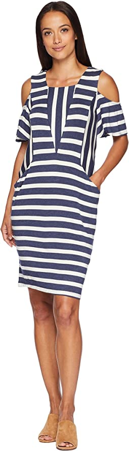 Priya Short Sleeve Striped Dress