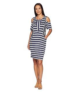 Priya Short Sleeve Striped Dress