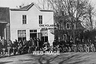 OnlyClassics 1913 Indian Motorcycle Dealer Lineup 8X12 Photo Garage Sign-Sidecar-Americana