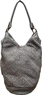 BZNA Bag Taina grau Italy Designer Damen Handtasche Schultertasche Tasche Leder Shopper Neu
