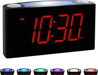 "Rocam Home LED Digital Alarm Clock – 6.5"" Large Red Display, Loud Alarm, 7.."