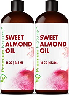 Sweet Almond Oil Carrier Oil – Cold Pressed Pure Natural Body Massage Oils for..