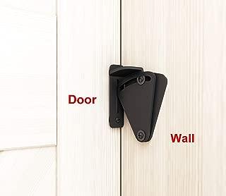 DIYHD Rustic Black Lock for Sliding barn Door Wood Door Latch (Medium Lock-Black)