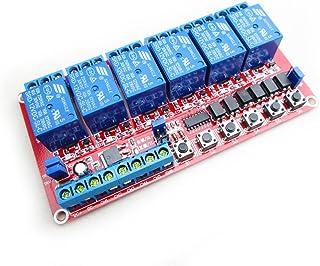 HiLetgo 12V 6 Channel Relay Module Self-Lock Interlock Relay High Low Trigger Relay Module 3 in One