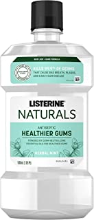 Listerine Naturals Antiseptic Mouthwash, Fluoride-Free Oral Care To Prevent Bad Breath, Plaque Build-Up and Gingivitis Gum...