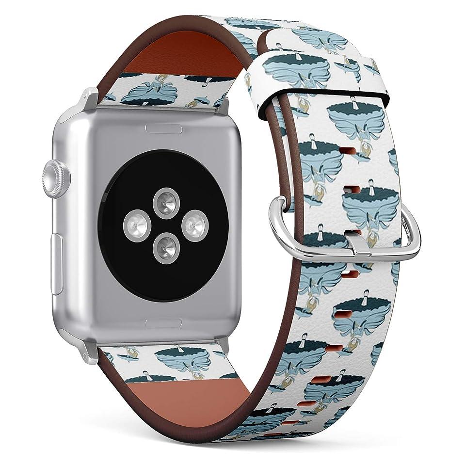 下手フェデレーション鏡コンパチブル Apple Watch iWatch 42mm & 44mm - 本革レザーストラップ, 向けのバンド交換ストラップです コンパチブル アップルウォッチ バンド (パターン設計)
