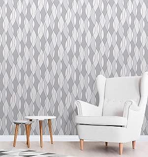 Apex Wave Geometric Wallpaper Grey Fine Decor FD42174