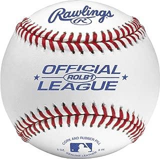 Rawlings Raised Seam Baseballs,  Official Junior League Competition Grade Baseballs,  Cover,  Box of 12,  ROLB1