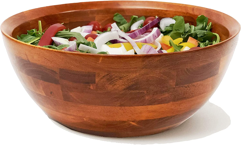 Woodard Charles Large 5 popular Wooden Max 89% OFF Serving for Salads Fruits Bowl