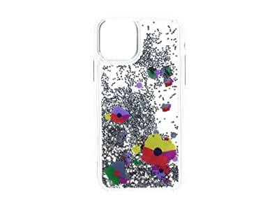 Kate Spade New York Collage Liquid Glitter Phone Case for iPhone 11 Pro (Clear Multi) Cell Phone Case