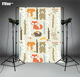 FiVan Fotohintergrund für Neugeborene, Babyparty, Geburtstagsbilder, Party Banner, Dessert Tischdekoration, FT6589