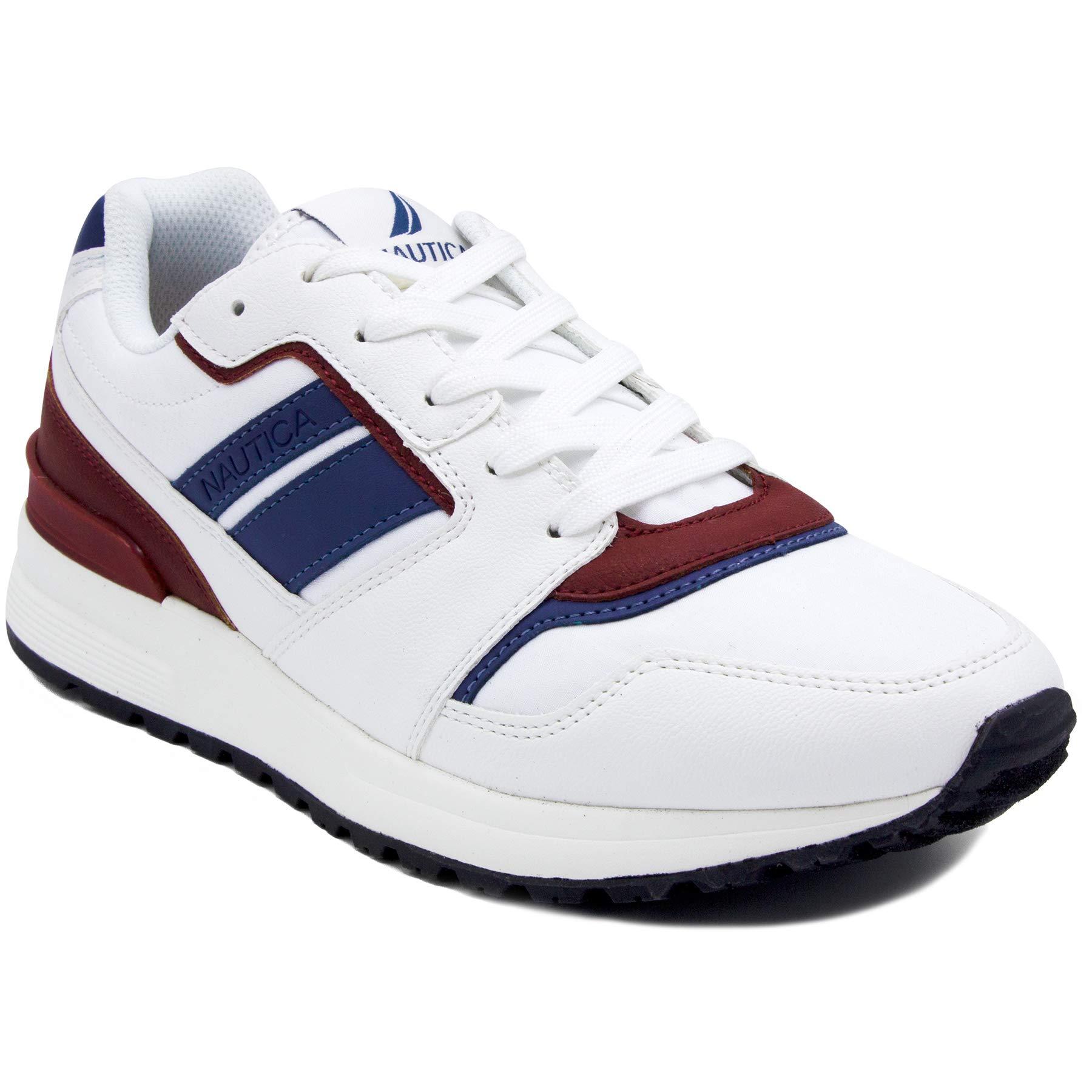 Nautica Mens Casual Lace-Up Fashion Sneakers Oxford Comfortable Walking Shoe