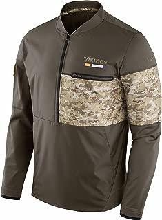 Minnesota Vikings NFL Salute to Service Men's Sideline Half-Zip Hybrid Jacket