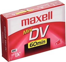 Maxell 298012 Advanced Digital Picture Technology 60 Minute Recording SPmode Time Mini Dv Cassette