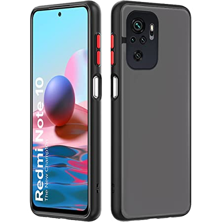 Pikkme Redmi Note 10 / Redmi Note 10s Smoked Cover Protective Shockproof Matte Hard Back Case Cover for Redmi Note 10 / Redmi Note 10s (Black)