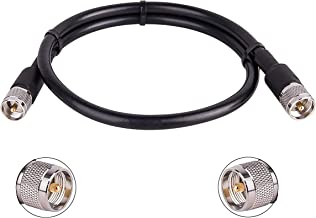 CB Cable PL258 Cable CB Radio Cable 6FT UHF Male to UHF SO239 Male RG58 Cable Antenna Analyzer Low Loss CB Coax Cable for CB Radio SWR Meter MOOKEERF UHF Cable Amateur Radio