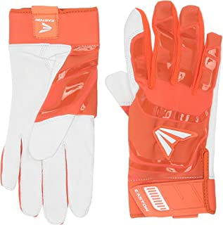 EASTON WALK-OFF Batting Glove Series | Pair | Adult | Youth | Baseball Softball | 2020 | Premium Smooth Leather Palm | Lycra for Flexibility & Silicone for Structure & Look | Neoprene Pull Tab Closure