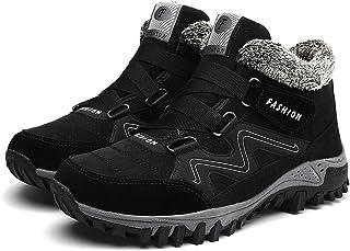 JIU SI Hommes d'hiver Bottes avec Fourrure en Cuir Chaud Snow Hommes Travailler Casual Shoes Sneakers High Top Caoutchouc ...
