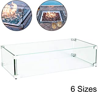 fire table glass guard