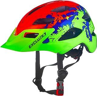 Exclusky Casco Bicicleta Niños Casco Infantil para BMX, Patinaje, Ciclismo, Monopatín, Scooter - Tamaño 50-57cm (Edades 5-13)