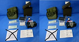 Set of 2 US Army Military Alice FIRST AID CASE Medical Pouch Bag OD Green