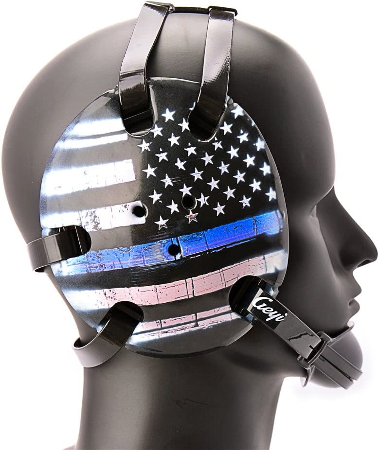 Geyi Wrestling Headgear Thin Blue High order Digital Flag American Max 70% OFF Line Pri