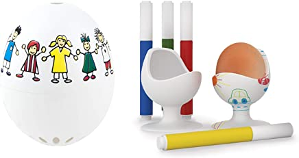 Preisvergleich für Brainstream 2er Kinder Set: PiepEi Kinder (3 bekannte Kinderlieder für 3 Eier-Härtegrade) + EggChair Eierbecher ALS Kreativset zum bemalen - Eignet Ostern