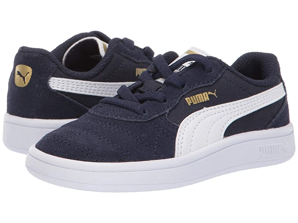 Puma Kids Astro Kick Slip-On (Toddler) (Peacoat/Puma White/Puma Team Gold) Boys Shoes
