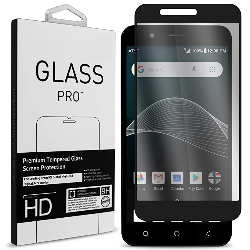 AT&T AXIA Screen Protector, Cricket Vision Screen Protector, Tempered Glass Premium 9H Scratch Resistant Screen Protector for AT&T Axia/Cricket Vision - CoverON InvisiGuard (HD Clear - Black Trim)