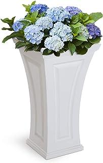 Mayne Inc Cambridge Tall Planter, White