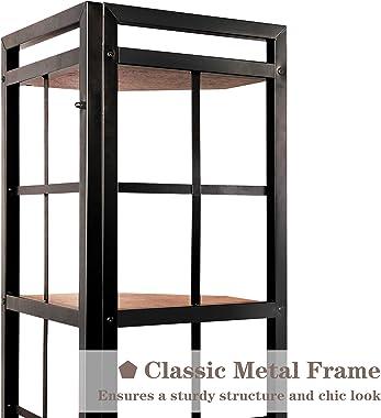 Becko Corner Shelf Corner Bookcase Plant Stand Storage Rack for Living Room Home Office