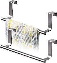 Tatkraft HORIZON 2 Pack RVS Kastdeur Handdoekrek voor de keukenkast of een andere deur - 23CM - Set Van 2 Stuks