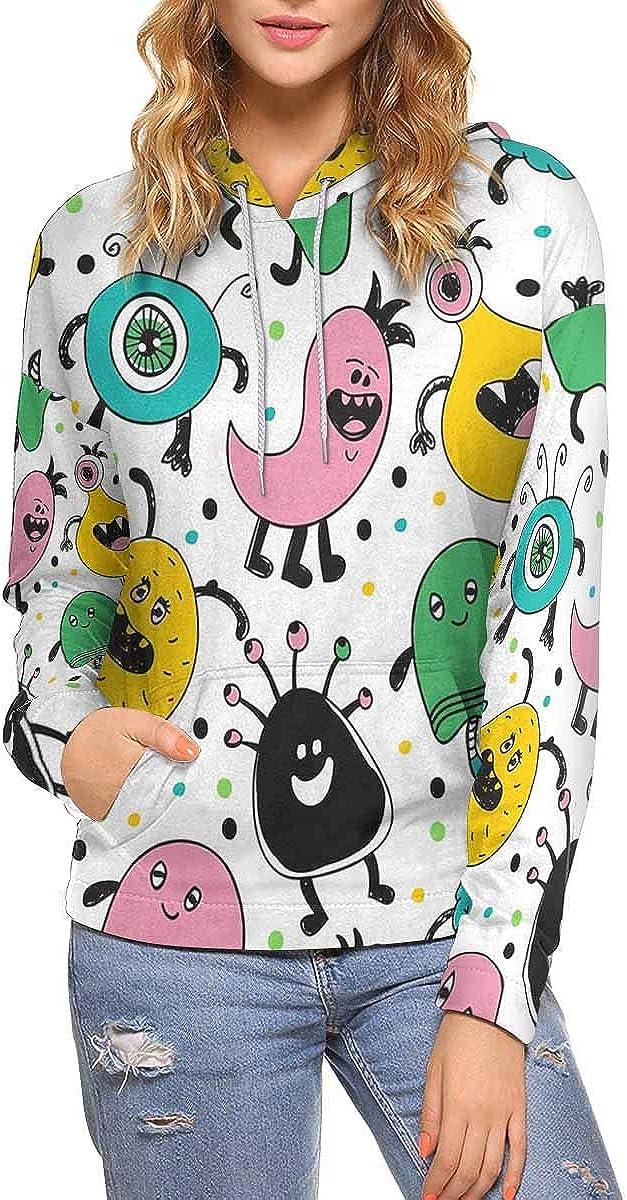 unisex InterestPrint Fur Branded goods Monsters Women's Sweatshirt with Pock Kangaroo