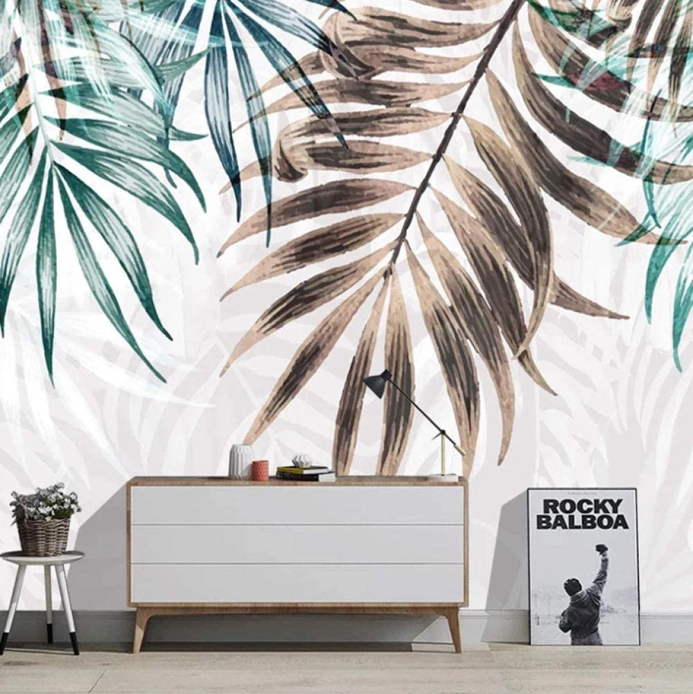 Wall Decals Stickers Palm Leaf Max 63% OFF Hand 98x69 Many popular brands Wa Drawn inch XXL