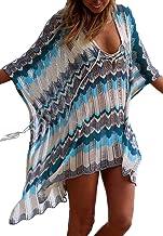 L-Peach Crochet Túnica de Punto de Playa Pareo Bikini Cover Up para Mujer