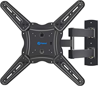 Full Motion TV Wall Mount Bracket, Articulating Arms Swivel Tilt Extension Rotation, Fits Most 26-55 Inch Flat Curved LED ...