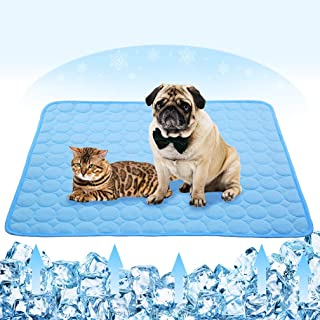 VeMee Summer Cooling Mat for Dogs Cats Self Dog Cooling Mat Breathable Pet Crate Pad..