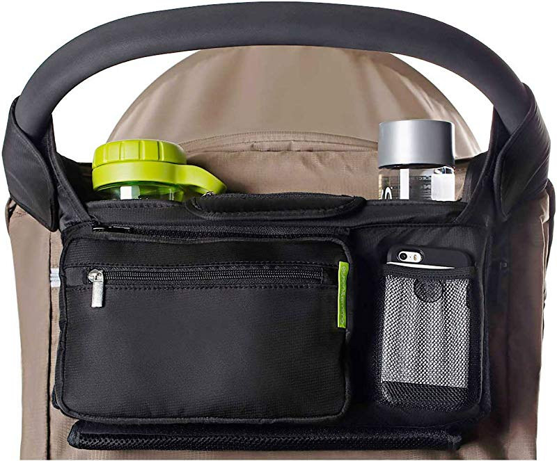 Ethan Emma Baby Stroller Organizer With Cup Holders Baby Shower Gift Secured Fit Extra Storage Easy Installation Universal Stroller Organizer For Smart Moms