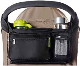 Best Ethan & Emma Universal Baby Stroller Organizer with Insulated Cup Holders for Smart Moms. Diaper Storage, Secure Straps, Detachable Bag, Pockets for Phone, Keys, Toys. Compact Design Fit All Strollers Reviews