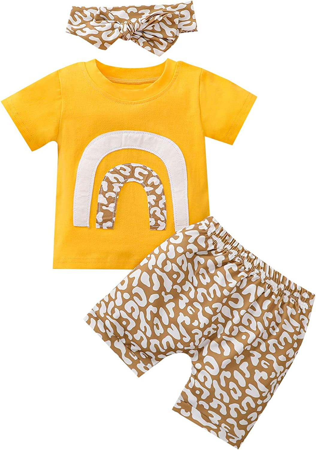 Infant Baby Girl Clothes Long Sleeve Jumpsuit Romper Top+Floral Pant+Headband 3Pcs Outfit Set